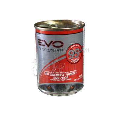 Evo Canned Dog Food Chicken/Turkey Large Each