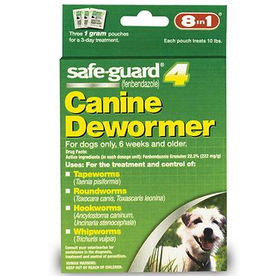Safe-Guard Canine Dewormer 1 Gram 3 Pack