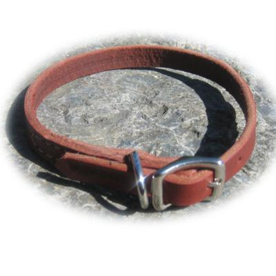 Circle T Latigo Single Layer Leather Dog Collar 16 inch