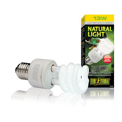 Exo Terra Natural Light Full-Spectrum Terrarium Lamp 13 watt