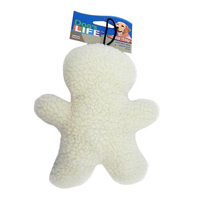 Fleece Man  8 inch Dog Toy with Squeaker