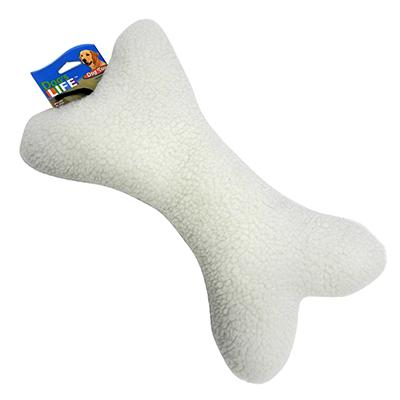 Fleece Bone 12 inch Dog Toy with Squeaker