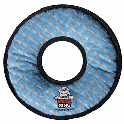 MEGA Tuffy's  Rumble Ring - Chain Print Dog Toy