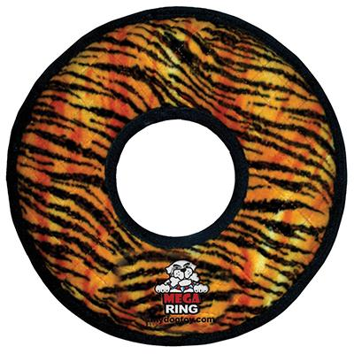 MEGA Tuffy's  Rumble Ring - Tiger Print Dog Toy