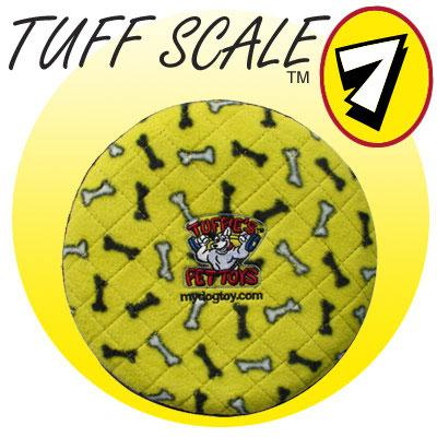 Tuffy's Sport Flyer Yellow Bone Design Dog Toy