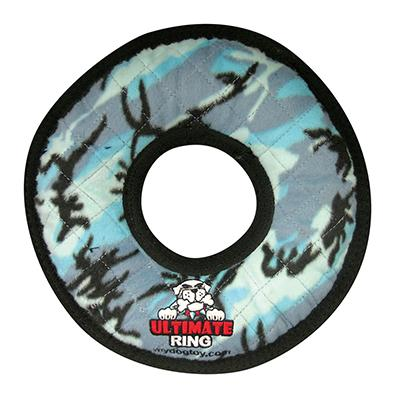 Tuffy's Ultimate Rumble Ring Blue Camo Dog Toy