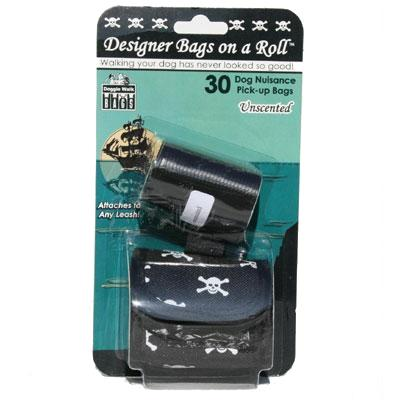 Skull & Crossbones Designer Dog Waste Bag Dispenser