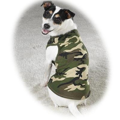 Dog Tank Top Camo Green/Black Large