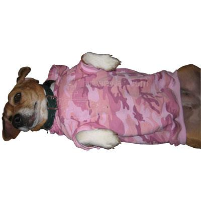 Pink Camouflage Hoodie Dog Jacket Small