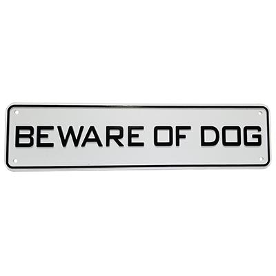 Beware of Dog 12 by 3-inch Plastic Sign
