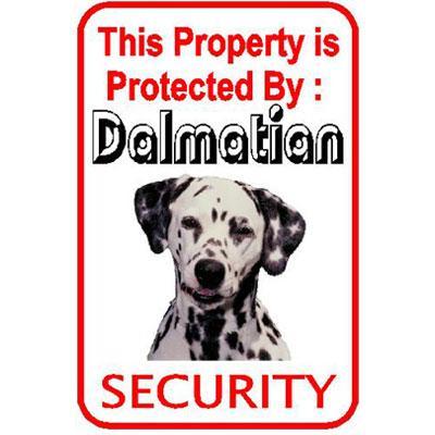 Sign Dalmatian Security inch Aluminum