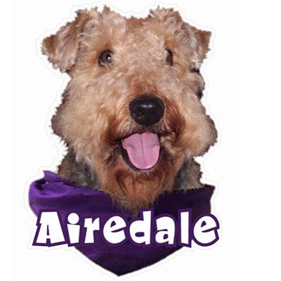 6-inch Vinyl Dog Decal Airedale Picture