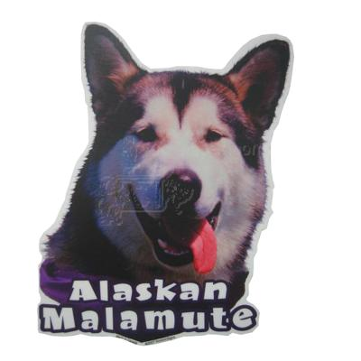 6-inch Vinyl Dog Decal Alaskan Malamute Picture