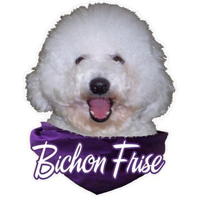 6-inch Vinyl Dog Decal Bichon Frise Picture