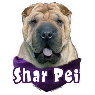6-inch Vinyl Dog Decal Shar Pei Picture