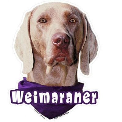 6-inch Vinyl Dog Decal Weimaraner Picture