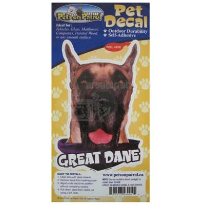 6-inch Vinyl Dog Decal Great Dane Picture