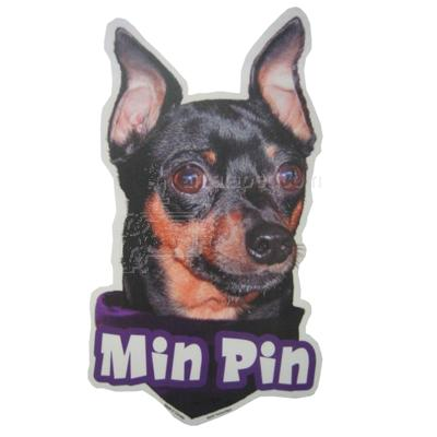 6-inch Vinyl Dog Decal Minature Pinscher Picture
