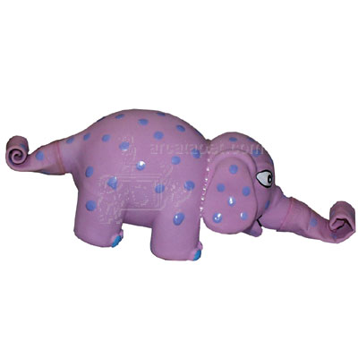 Latex Squeeze Meeze Pink Elephant Jr Dog Toy