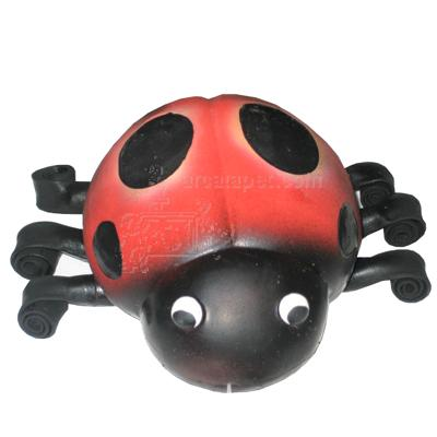 Latex Squeeze Meeze Ladybug Dog Toy
