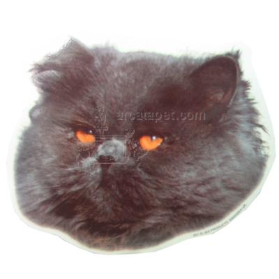 Double Sided Cat Decal Persian Black