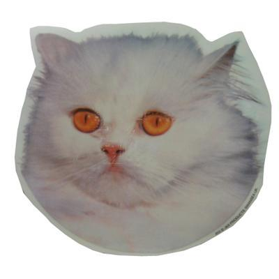 Double Sided Cat Decal Persian White