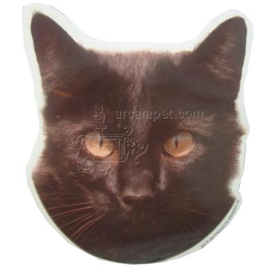 Double Sided Decal Cat Black Head