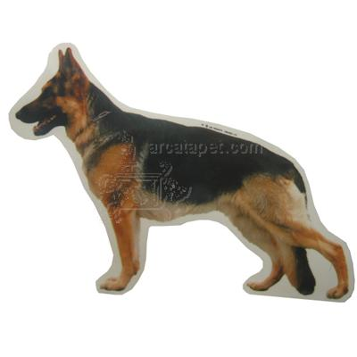 Double Sided Decal German Shepherd Dog Standing