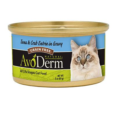 AvoDerm Cat Tuna Crab 3 oz Can