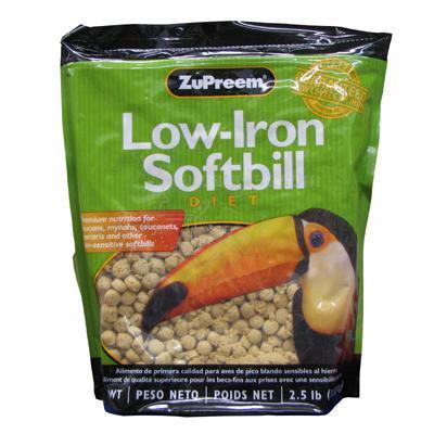 Zupreem Low Iron Softbill Food 2.5lb