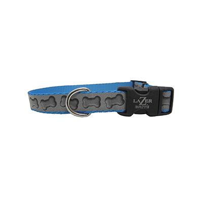 Lazer Brite Bones Dog Collar Medium Reflective