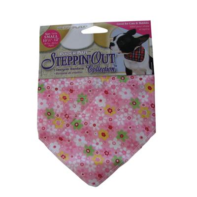 Dog Bandana Pink Flower Small