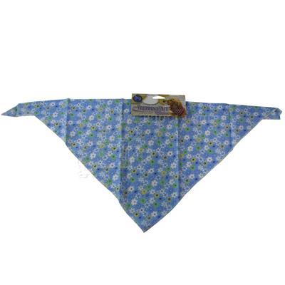 Dog Bandana Blue Flower Large