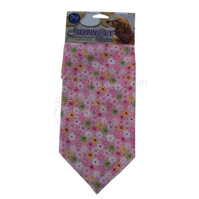 Dog Bandana Pink Flower Large