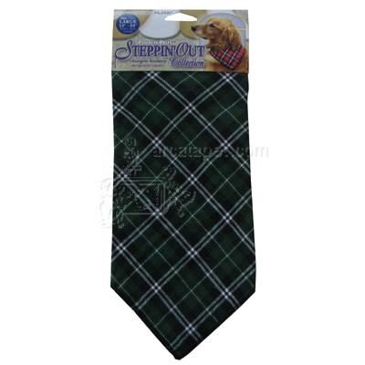 Dog Bandana Green Plaid Large
