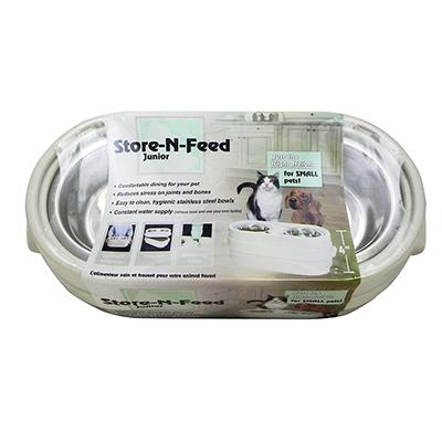 Store-N-Feed Jr. Dog Food and Water Bowls