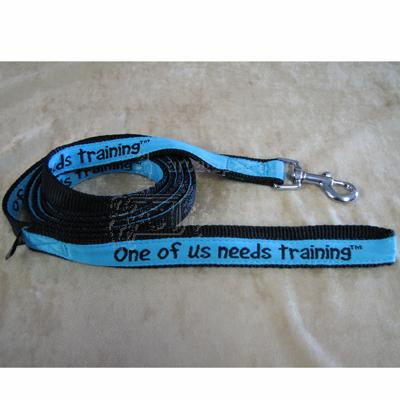 Embroidered Dog Leash 6-ftx3/4 One of us needs training