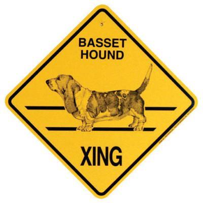 Xing Sign Basset Hound Plastic 10.5 x 10.5 inches