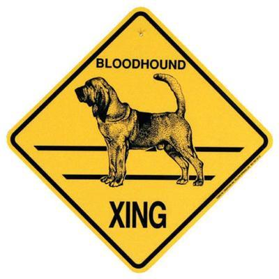 Xing Sign Bloodhound Plastic 10.5 x 10.5 inches
