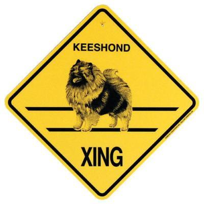 Xing Sign Keeshond Plastic 10.5 x 10.5 inches