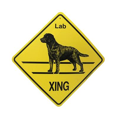 Xing Sign Labrador Retriever Plastic 10.5 x 10.5 inches