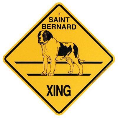 Xing Sign Saint Bernard Plastic 10.5 x 10.5 inches
