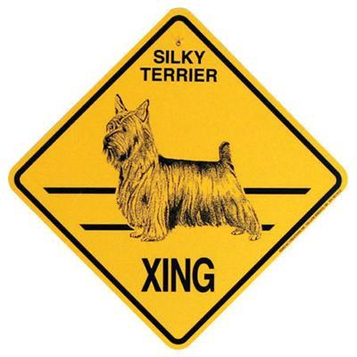 Xing Sign Silky Terrier Plastic 10.5 x 10.5 inches