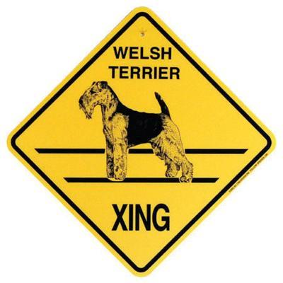Xing Sign Welsh Terrier Plastic 10.5 x 10.5 inches