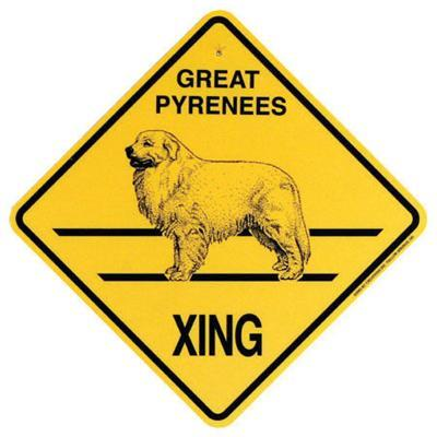 Xing Sign Great Pyrenees Plastic 10.5 x 10.5 inches