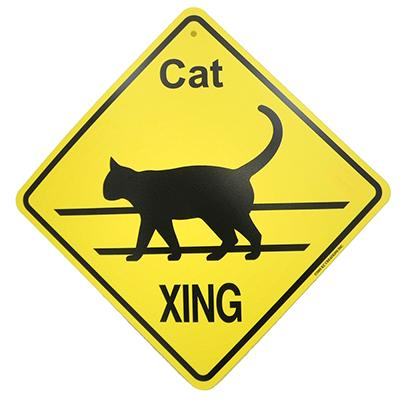 Xing Sign Cat Plastic 10.5 x 10.5 inches