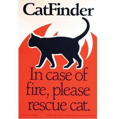 CatFinder In Case of Fire Please Rescue Cat Decal