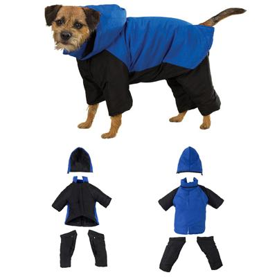Cozy Casual Canine Snowsuit Blue Medium