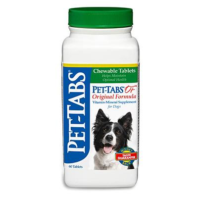 Pet-Tabs Dog Vitamin Mineral Supplement 60 Tablets