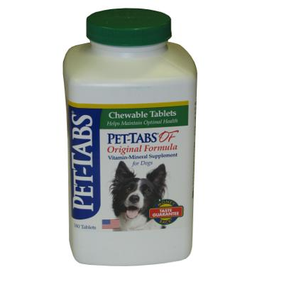 Pet-Tabs Dog Vitamin Mineral Supplement 180 Tablets
